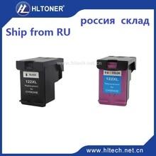 2 unids D1000 122XL cartucho de tinta Compatible para HP Deskjet 1050 2000 2050 2510 3000 3050 3052 3054 3540 1010 1510 2540