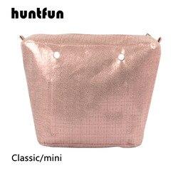 2019 huntfun 1 peça dourado à prova doágua forro interno obag inserção colorida para clássico mini o saco bolsas de ombro das mulheres