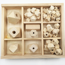 10mm 12mm 14mm 16mm 20mm 25mm 30mm Wood Bead Spacer Beads Unfinished Geometric Jewelry For DIY Wooden Necklace Kids Toys
