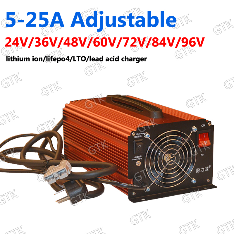 Consumer Electronics Adjustable 0-120v 20a 40a 12v 24v 48v 50a 30a 60v 36v 90v 100v 80v 70v High Current Charger For Power Li-ion Lifepo4 Lipo Lto Accessories & Parts