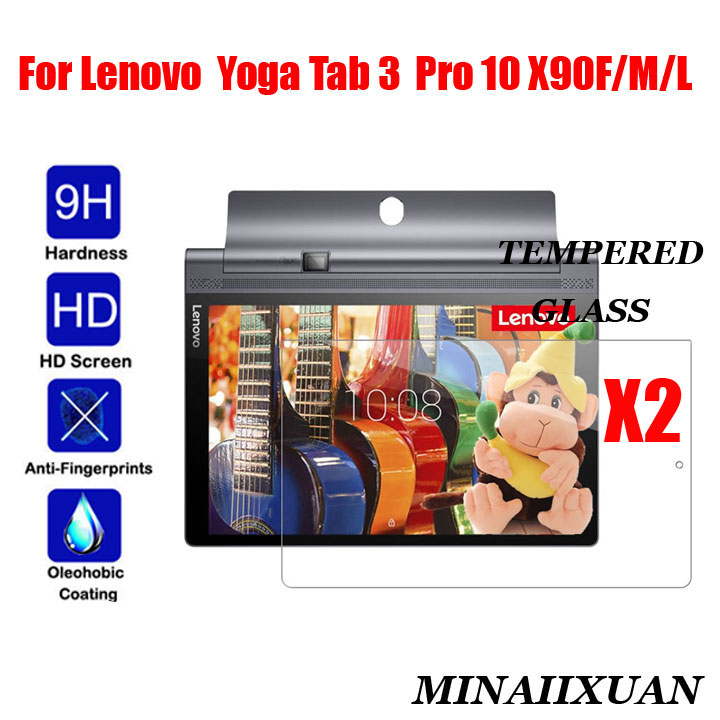 2Pcs Tempered Glass For Lenovo Yoga Tab 3 Pro 10 YT3 X90M X90F X90L Explosion-Proof Tablet Toughened Film Screen Protect Guard