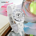 Luxury Brand LONGBO Women Ceramic Watch Diameter 33mm Fashion Female Watches Lady Quartz Wrist watches relojes mujer 8628