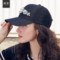 Lady Spring and Summer Baseball Cap Women Fashion All-match Baseball Hat Adjustable Female Peaked Cap Diamond Decoration B-4594