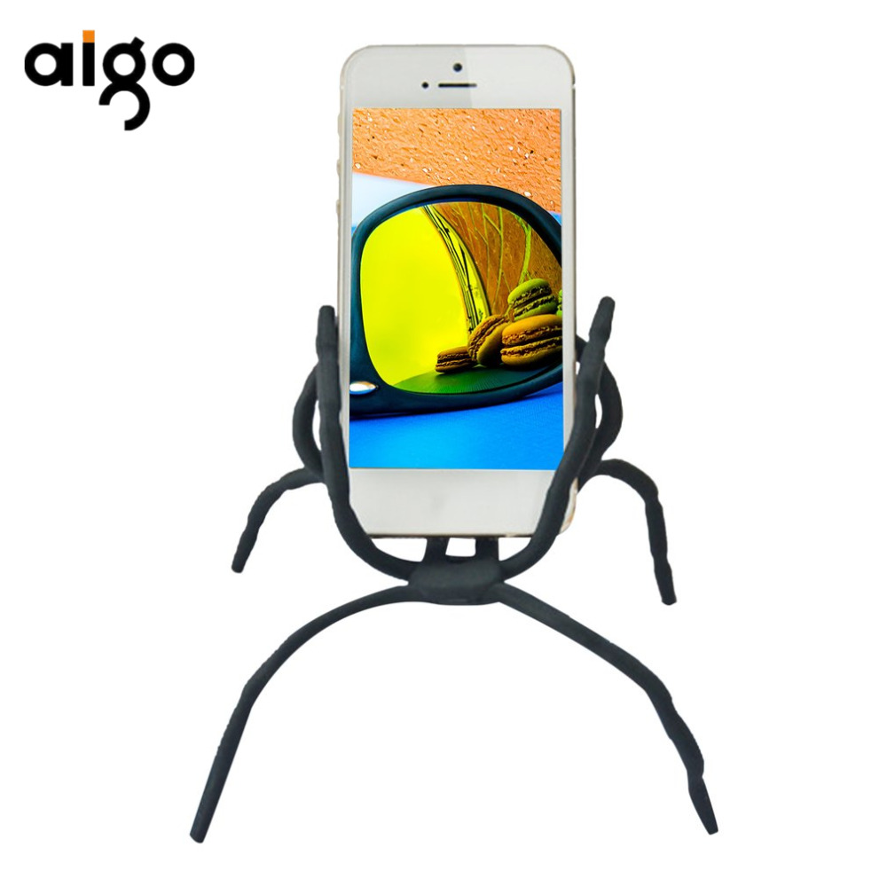 Spider Mobile Phone Universal Stand Holder For iPhone For Samsung For LG Bracket Desktop Car White Support Phone Holders