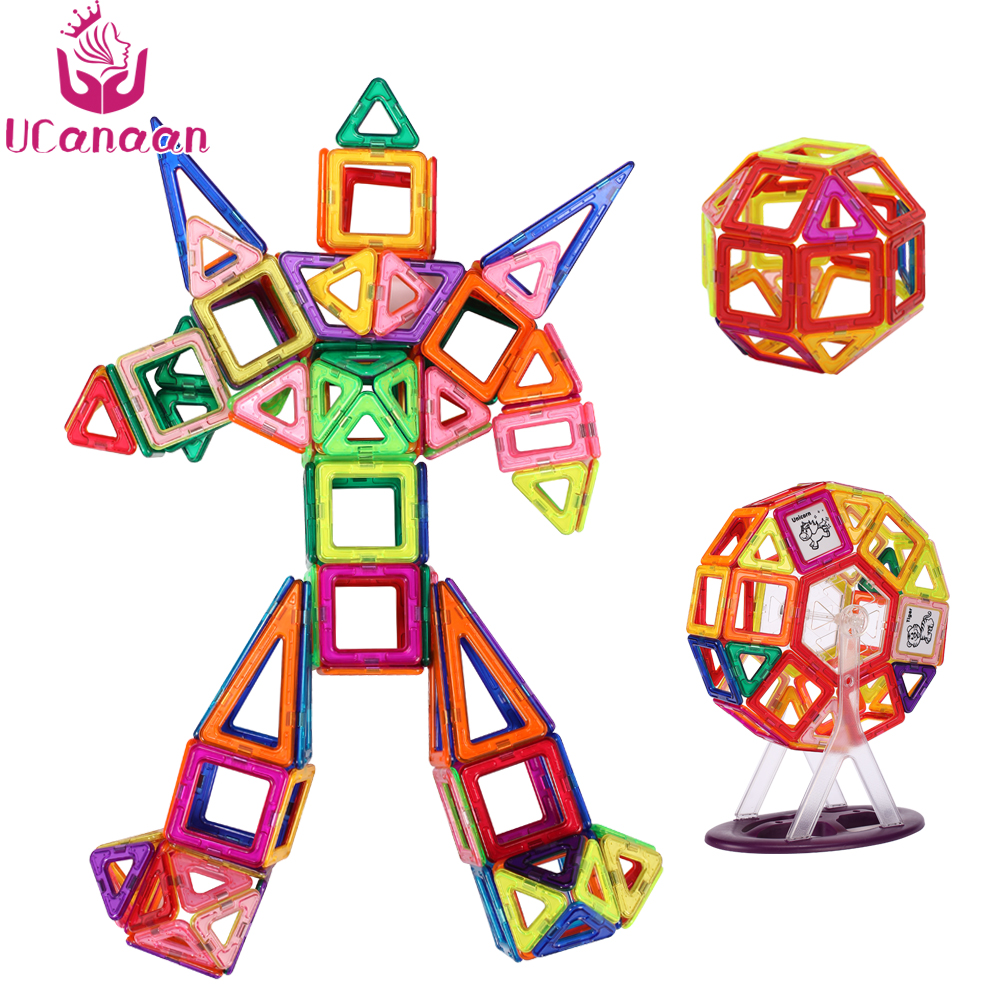 UCanaan High Quality Magnetic Constructor Designer Toys For Girls Boys Creator Building Blocks Educational DIY Magnetic Blocks 8 in 1 military ship building blocks toys for boys