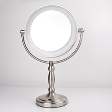 Enlarge led mirror with light 9 inch Large cosmetic mirror desktop makeup mirror 9903