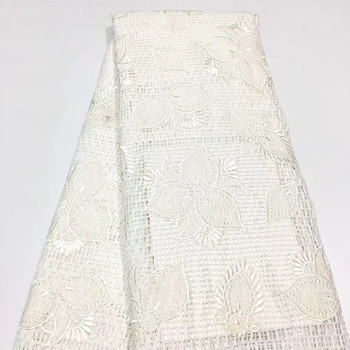 2018 Latest Nigerian Laces Fabrics High Quality African Laces Fabric For Wedding Dress French Tulle Lace A1422-1
