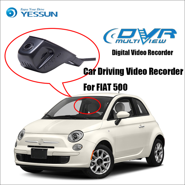 Yessun For Fiat 500 Car Front Dash Camera Not Reverse Parking Camera