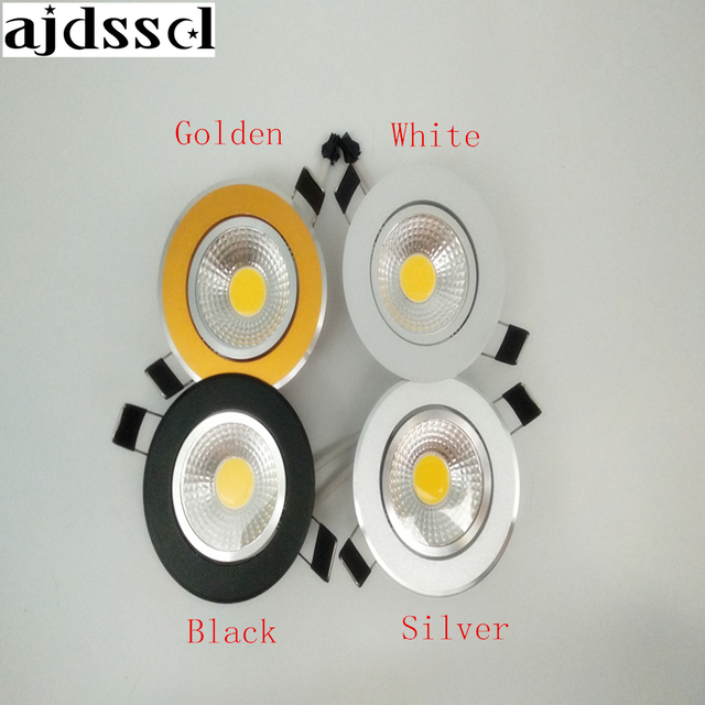 LED Round Downlight Dimmable Led downlight COB Ceiling Spot Light 3w 5w 7w 9w 12w LED ceiling recessed Light Indoor Lighting