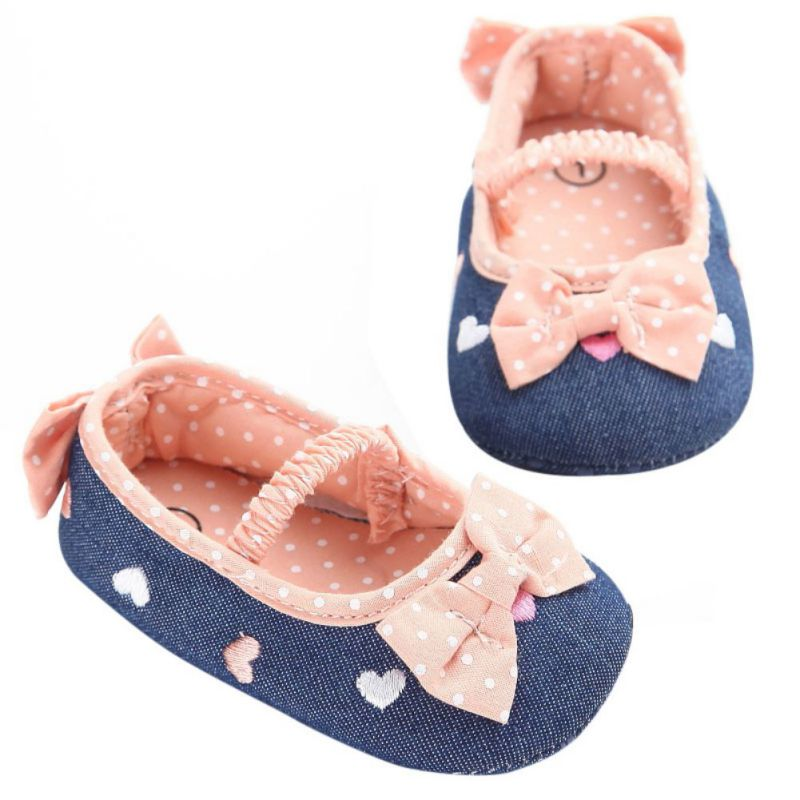 Spring Autumn Newborn Baby Girls Shoes Soft Cotton First Walkers Baby Shoes Butterfly-knot First Sole Shoes