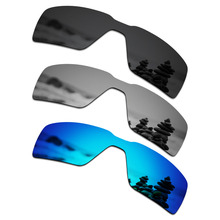 fe24ccb49aa39 SmartVLT 3 Pieces Polarized Sunglasses Replacement Lenses for Oakley  Probation Stealth Black   Silver Titanium   Ice Blue