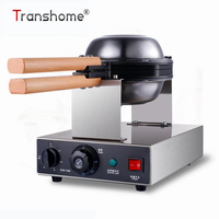 220V Commercial Electric Chinese Hong Kong Eggettes Puff Cake Waffle Maker Machine Bubble Egg Cake Oven