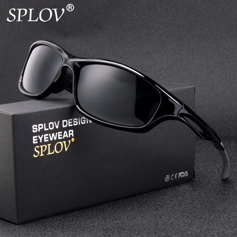 SPLOV New Arrival Sports Polarized Sunglasses Men Brand Designer TR90 Outdoor Sun Glasses Driving Fishing Eyewear 2018 Hipster ...