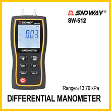 SNDWAY Manometer Air Pressure gauge High Precision Handheld Digital differential natural gas pressure meter measurement SW-512