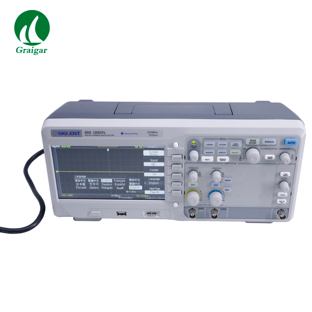 SDS1202CFL Compact Desktop Dual-channel Digital Oscilloscope with <font><b>200</b></font> <font><b>MHz</b></font> Bandwidth image
