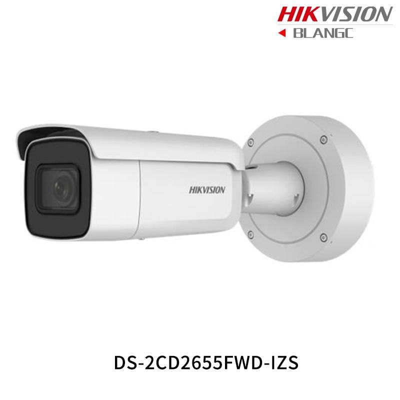 Hikvision 5MP WDR Vari-focal CCTV IP Camera H.265 DS-2CD2655FWD-IZS Bullet Security Camera 2.8-12mm face detection IP67 IK10 new hikvision 8mp mini ip camera h 265 ds 2cd2085fwd i poe camera ip security ip67 4k bullet outdoor cctv surveillance camera