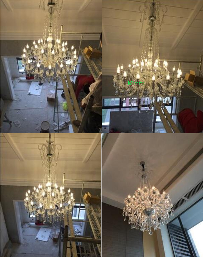 high ceiling chandeliers crystal ball chandelier modern staircase - Indoor Lighting - Photo 5