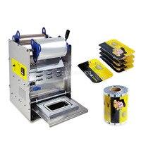 Ручной пресс 20*14 см квадратный упаковщик коробок из нержавеющей стали Электрический полуавтоматический фаст готов машина для укладки лотк