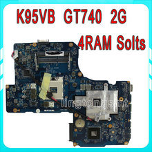 For Asus R900VB K95V K95VB Motherboard ZAY90 LA-A681P Mainboad GT740 2G 4RAM Solts Fit K95VM A95V K95V K95VJ A95VJ fully Tested
