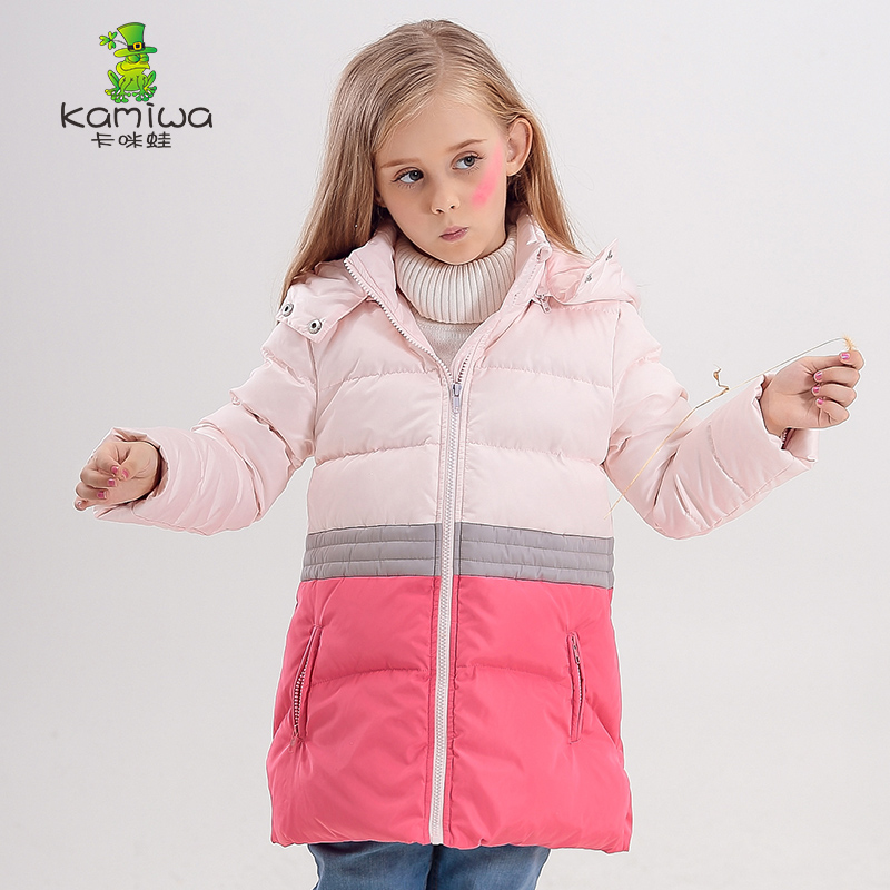 KAMIWA Girls Winter Coats And Jackets 2017 Patchwork Kids Outwear Down Jacket Girls Clothes Parkas Children Baby Girls Clothing