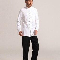 Roupa tradicional chinesa kung fu roupas cheongsam camisa de manga longa para homens chineses tang terno para homens top masculino para homem