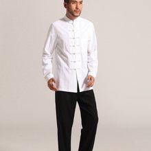 8401449ad537 Abbigliamento tradizionale cinese kung fu vestiti cheongsam camicia a  maniche lunghe per gli uomini vestito cinese