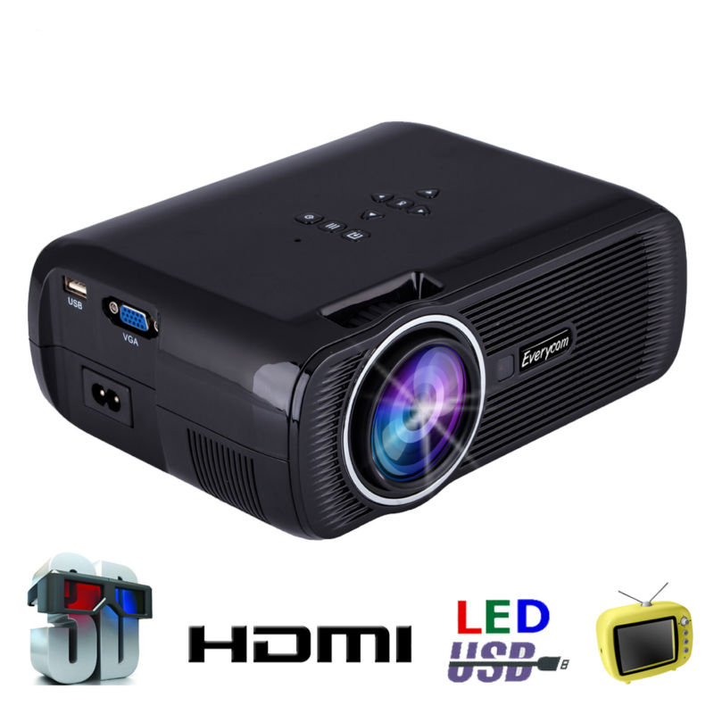 Original everycom x7 mini projector full hd 1080p video for Small video projectors reviews