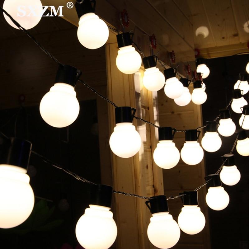 2.5M/5M 10/20 LEDs Solar Light String Fairy Globe Bulb Ball Solar Lamp Outdoor Patio Home Garden Christmas Party Decoration