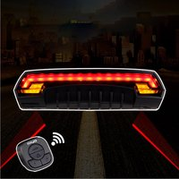 Wireless Bicycle Rear Light Laser Bike Signal Safety LED Warning Taillight Remote Control Turn USB Charger