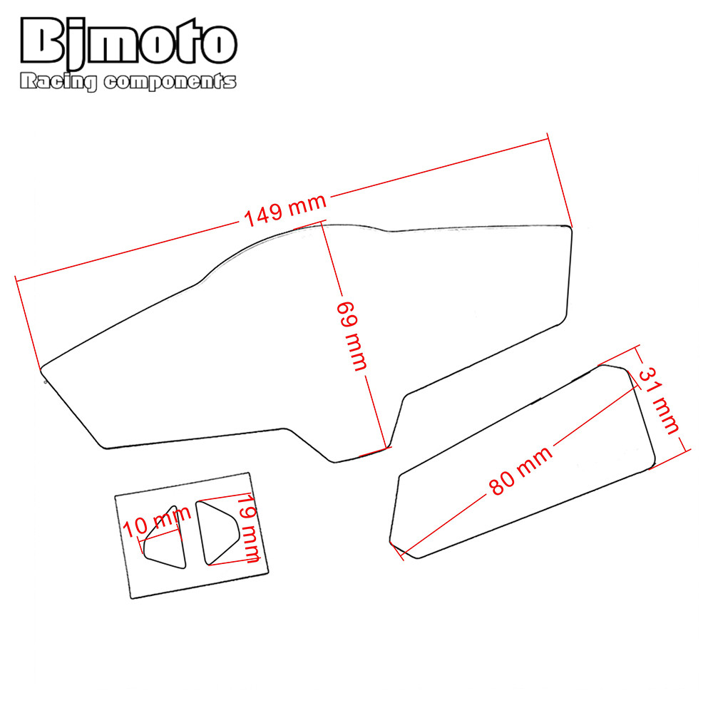 Motorcycle accessories dashboard instrument speedometer film screen protector stickers for kawasaki z300 ninja300 2013 2016 in decals stickers from