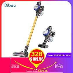 Dibea D18/C17 Leggero Cordless Senza Fili Tenuto In Mano Bastone Aspirapolvere Forte Aspirazione con Motorizzato Pennello