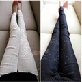 Fashion Women Casual Lace Flower Slim Fit Skinny Pants Stretch Leggings SV005146