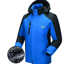 Hot Sale Fleece Thermal Cotton-padded Clothes Winter Cycling Jackets Warm Bike Bicycle Jerseys Blue Lovers Coat for Ride 100