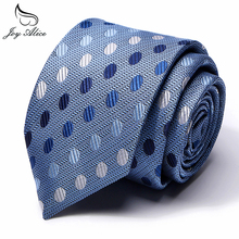 Tie Mens Polyester Slim Necktie for Suits Plaid Polka Dots Ties Men Suit Navy Blue Narrow Neck dot