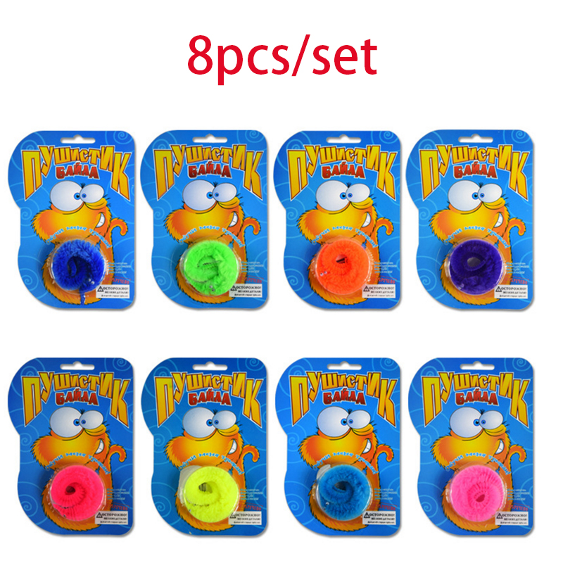 8pcs/lot 22CM Russian Blister Card Magic Trick Twisty Fuzzy Worm Kids Cartoon Animals Toys Bile Pussy Mr Fuzzy Street Dolls Fun