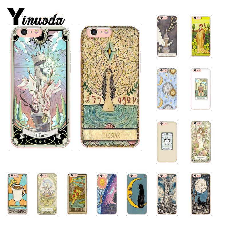 Half-wrapped Case Yinuoda Egypt Mysterious Tarot Divination Novelty Soft Silicone Tpu Phone Cover For Iphone 8 7 6 6s Plus X Xs Max 5 5s Se Xr 10 Phone Bags & Cases