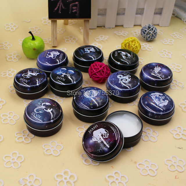 High Quality 12 Signs Constellation Zodiac Magic Solid Deodorant Solid Fragrance For Women Men