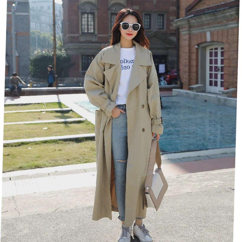 New Fashion Women Comfortable Warm Solid Long Coat New Arrival Good Quality Loose Temperament Outerwear Holiday Sweet Trench