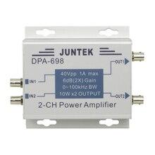 JUNTEK DPA-698 Dual Channel High Power DDS Function Signal Generator Power Amplifier DC Power Amplifier 40Vpp