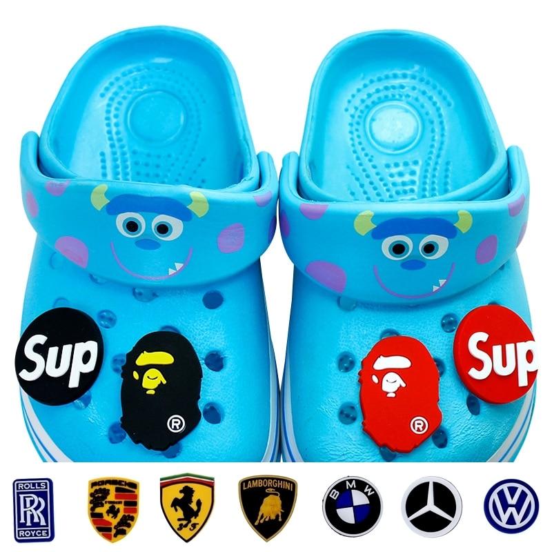 Schuhe Schuh-dekorationen Realistisch 1 Pc Pvc Autos Logo Schuh Zubehör Schuh Charms Dekoration Schuh Schnallen Zubehör Fit Bands Armbänder Croc Jibz T109-a