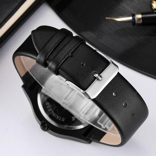 Geek Watches Men Minimalist Turntable Dial Quartz Watch Clock  Leather Mesh Band Male Wristwatch Relogio Masculino Gift For Men 5