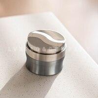 watchget S shape 58mm Stainless Steel Coffee Powder Espresso Bean Tamper Press Hammer Coffee Distribution Tool