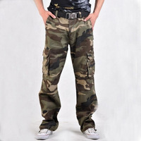 Army Militar Men S Trousers And Camo Pants With Side Pockets Combat Camouflage Overalls Fashion Baggy