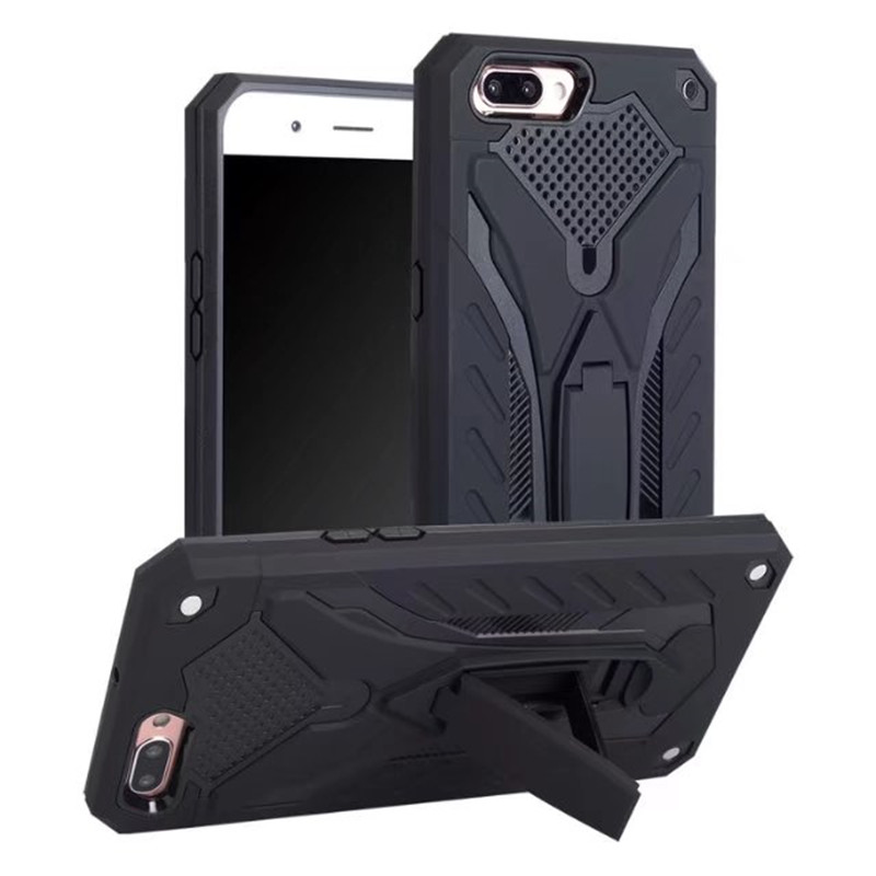 For OPPO F3 F5 Hybrid TPU Armor Silicone Rubber Back Cover For OPPO A37 A39 A57 A59 A71 R9S R11 Plus Hard PC Stand Holder Case