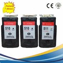 PG-510 XL PG510 PG 510 CL-511 CL511 CL 511 картриджи с чернилами восстановленные Pixma IP2700 IP2702 MP240 MP250 MP252 MP260