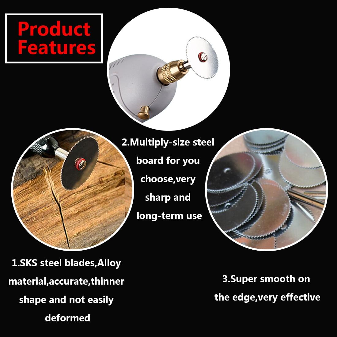 10x 22/25/32mm wood cutting disc dremel rotary tool circular saw blade dremel cutting tools for woodworking tool Dremel accessor