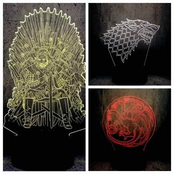 led lamps 2019 Game of Thrones A Song of Ice and Fire the series' ending lavaEddard Stark wolf Daenerys Targaryen dragon mother