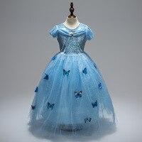 Girls Children Clothes Anna Elsa Girl Baby Elza Dresses For Girl S Kids Princess Vestidos Infantis