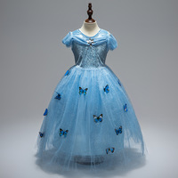 Girls Children Clothes Anna Elsa Girl Baby Elza Dresses For Girl S Kids Princess Vestidos Infantis