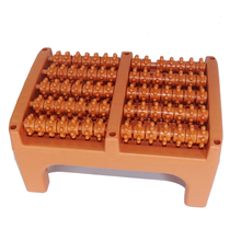 Foot Massager  Special stool Foot Massage wheel Plastic 5 row roller  Foot care bottom  massage household plastic wooden foot massage roller foot care tool massager stool relaxation acupoint acupressure sole massage roller